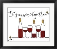 Framed Underlined Wine X