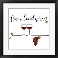 Framed Underlined Wine VIII