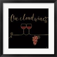 Framed Underlined Wine VIII Black