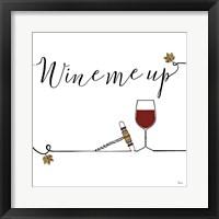 Framed Underlined Wine VII