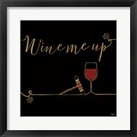 Framed Underlined Wine VII Black