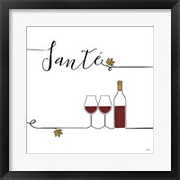 Framed Underlined Wine VI