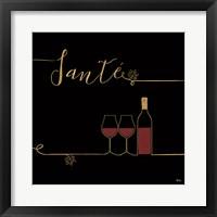 Framed Underlined Wine VI Black
