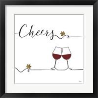 Framed Underlined Wine V
