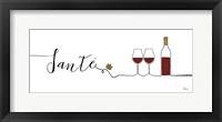 Framed Underlined Wine II
