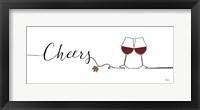 Framed Underlined Wine I