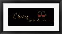 Framed Underlined Wine I Black