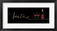 Framed Underlined Wine II Black