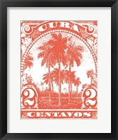 Framed Cuba Stamp IX Bright