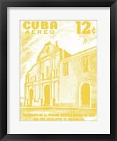 Framed Cuba Stamp VI Bright