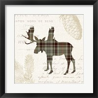 Framed Plaid Lodge IV Tan