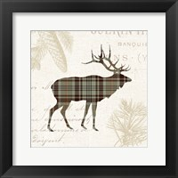 Framed Plaid Lodge III Tan