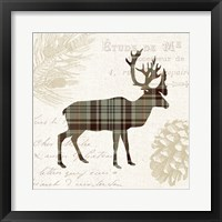 Framed Plaid Lodge I Tan