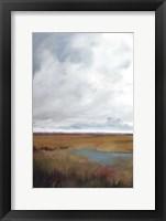 Framed Sunset Over The Marsh I