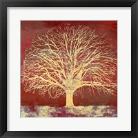 Framed Crimson Oak