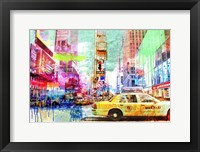 Framed Taxis in Times Square 2.0