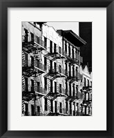 Framed Fire Escapes in Manhattan, NYC