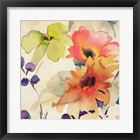 Framed Floral Fireworks I