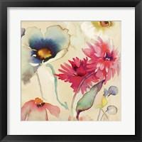 Framed Floral Fireworks II