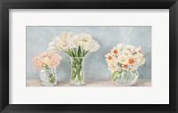 Framed Fleurs et Vases Aquamarine