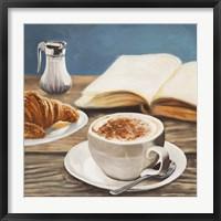 Framed Cappuccino & Book