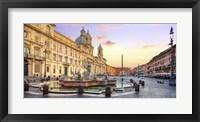Framed Piazza Navona, Roma