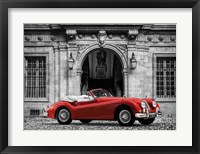 Framed Luxury Car in front of Classic Palace