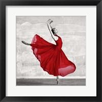 Framed Ballerina in Red (detail)