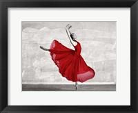 Framed Ballerina in Red