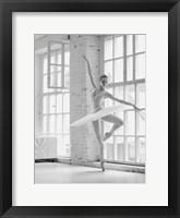 Framed Ballerina Rehearsing