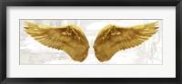 Framed Angel Wings (Gold II)
