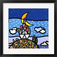 Framed Barca sulla Collina