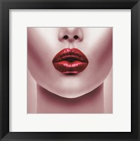 Framed Red Lips