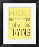 Framed Mistakes are the Proof