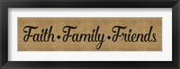 Framed Faith Family Friends Burlap