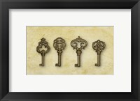 Framed Gold Key Vintage