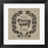 Framed Faith Family Sheep