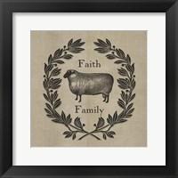 Framed Faith Family Sheep