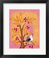 Framed Blank Card Bird 4b