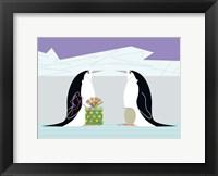 Framed Penquin Present