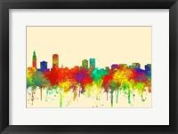Framed Baton Rouge Louisiana Skyline-SG