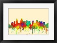 Framed Charlotte NC Skyline-SG