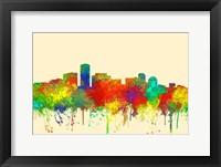Framed Long Beach California Skyline-SG