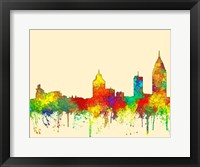 Framed Mobile Alabama Skyline-SG