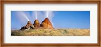 Framed Water Erupting from Rocks, Fly Geyser, Black Rock Desert, Nevada