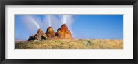 Framed Water Erupting from Rocks, Fly Geyser, Black Rock Desert, Nevada