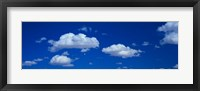Framed Low angle view of Clouds in the Blue Sky, White Sands, New Mexico