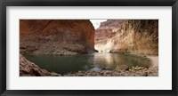 Framed Kayakers in Colorado River, Grand Canyon National Park, Arizona