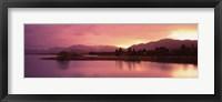 Framed Sunset at Lake Tekapo, South Island, Canterbury, New Zealand