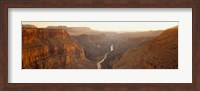 Framed River passing through Toroweap Point, Grand Canyon National Park, Arizona